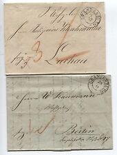 Zwei Vorphila-Belege von Brandenburg nach Berlin bzw. Luchau (B04309)