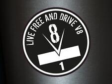 1 x Aufkleber Live Free And Drive V8 Sticker Tuning Turbo Power PS Dub Fun Gag