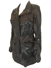 Women's Hurley Button Up Raincoat Black Adjustable Size M