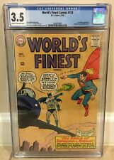 WORLDS FINEST COMICS #153 CGC 3.5 BATMAN SLAPPING ROBIN PANEL LEX LUTHOR APPEARS