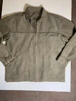 Vintage XL Zip Up Corduroy Jacket. Olive Green. Great Condition.