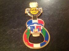 Santo Domingo Hard Rock Cafe Bottle Opener Magnet. Guitar Shaped Flag Design.