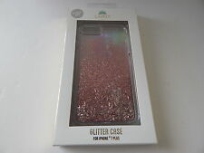 LMNT Hardshell Clear Liquid Glitter Case for iPhone 7 Plus Silver/Pink New