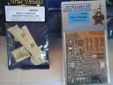 F4U-4 CORSAIR 1/48 RESIN COCKPIT DETAIL SET+PHOTOETCHED PARTS 1/48 SCALE MODEL