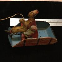 Vintage Toys - METAL Part(s) -- Tin -- HEE HAW - louis Marx - w dog & driver top