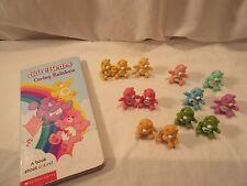 13 Care Bear Miniature PVC Bears with Care Bears Board Book Caring Rainbow