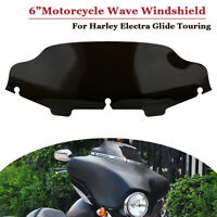 """New 6"""" Windschutzscheibe Windschild Für Harley FLHT FLHTC FLHX Touring Schwarz"""