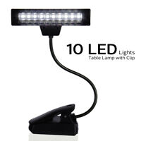 1 x USB Flexible Rechargable Reading LED Light Clip-on Bed Table Lamp Book Lamp