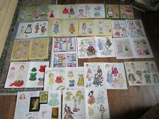 Huge Lot 18 Vtg Doll Magazine Paper Dolls / Children/ and More DoublePg bb