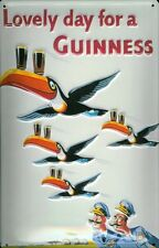 Guinness 4 Toucans Embossed 3D Metal Pub Bar Irish Licensed Sign Vintage Plaque