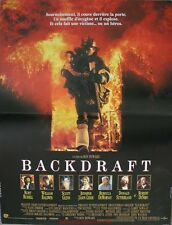 BACKDRAFT Affiche Cinéma / Movie Poster 53x40 Kurt Russell Ron Howard
