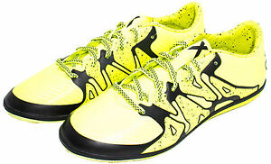 adidas Performance Men's X 15.3 IN Soccer Shoe B32997  Yellow/Black Sz 9