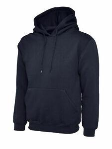 Unisex Pullover Hoodie UNEEK Classic Hooded Sweatshirt Casual Plain Work Jumper