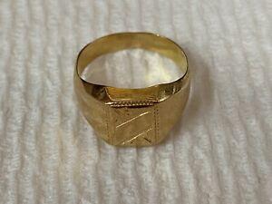 18K yellow gold Men's Ring, 3.2 Grams