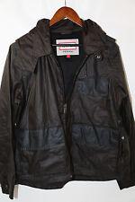 HUNTER Hooded Waxed Cotton Jacket Size 42