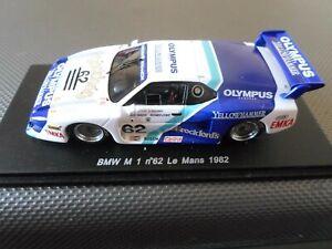 SPARK 1:43 MODEL BMW M1 LE MANS 1982 O'ROURKE, MASON, DOWN