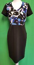 Worthington Black Blue White & Mauve Short Sleeve Dress - Size 8 - NWT