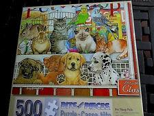 """500 Piece Amy Rosenberg Art Puzzle """"Pet  Shop Pals""""  New 16""""x 20"""""""