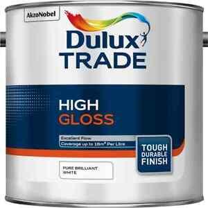 2.5L Dulux Trade High Gloss Pure Brilliant White