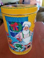 M&M's Peanut Tin Christmas Santa Chef M & M candies - tin only - good condition!