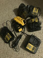 Dewalt 20V - 5 Battery Chargers with 2 Batteries Mixed Lot with Some New Items!