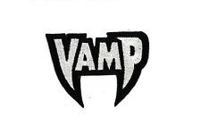 Vampire Word Iron-On Patch Horror Elvira Gore Punk Goth Gothic Vampira Fangs Pin