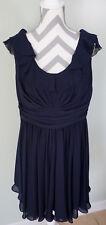 WATTERS & WATTERS Dark Blue Sleeveless Prom Bridesmaid Formal Party Dress Sz 16