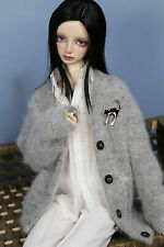 1/3 8-9 Inches BJD Doll Medium Long Silver Gray Straight Style Hair Wig Hla5