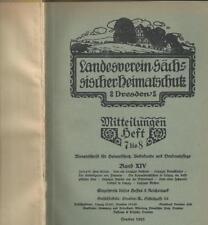 Landesverein Sächsischer Heimatschutz Dresden Monatsschrift 1925 1926 1930 1933
