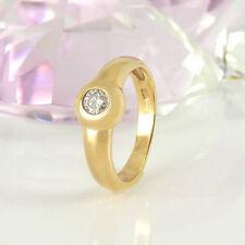 Ringe mit Reinheit P2 solitäre Echtschmuck aus Gelbgold für Damen
