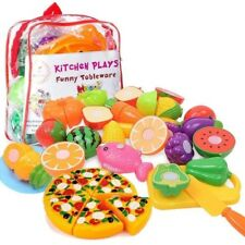 12Pcs Food Play Set Cut Fruit Vegetable Kids Toddler Toy Pretend Kitchen