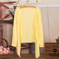 Summer Women Lady Long Thin Cardigan Modal Sun Protection Clothing Cover up Tops Colour#i