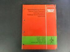 Deutz D3006-D7206,D4007-D7807,DX36V,DX50V,DX85-DX230 Specialized Tool Catalog