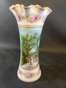 Wien-Antike Biedermeier Vase-Top