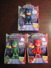 "Set of 3 PJ MASKS Talking Catboy Gekko Owlette 6"" figures NIP"