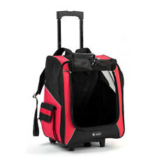 Large Dog Pet Travel Backpack Trolley Carrier Stroller  Push Wheel Airline Cage