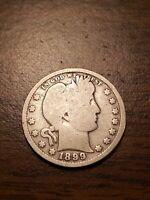 1899 P Silver Barber Quarter