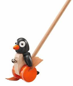 Selecta Kleinkindwelt Holz Pingo Schiebefigur Schiebespielzeug Pinguin 62071
