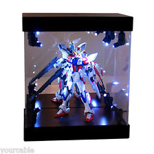 Acrylic Display Case Light Box for Bandai Gundam Zaku 1/144 Model Action Figure