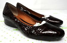 Geox Respira women's size 41 9.5-10  brown leather loafers comfort shoes