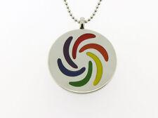 Rainbow Pride Steel Swirl Pendant