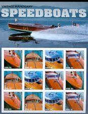 US 4160-63, 4163a vintage speedboats sheet of 12 MNH POF New in package