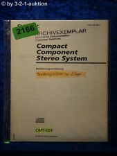 Sony Bedienungsanleitung CMT ED1 Component System (#2166)