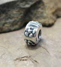 .925 SILVER BEAD EUROPEAN Charm CLIP STOPPER FOR BRACELET CHERRY PLUM FLOWER G79
