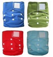 KAWAII BABY HEAVY DUTY HD2 ONE SIZE CLOTH DIAPER WITH 2 LARGE INSERTS 4 CHOICES