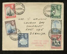 BERMUDA KG6 1938 FIRST DAY COVER...6 VALUES SET...MANGROVE BAY