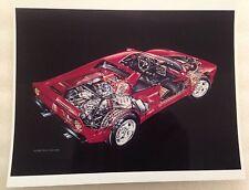 "1984 Ferrari 288 GTO Cutaway David Kimble 8"" X 10"" Car Poster O/P"