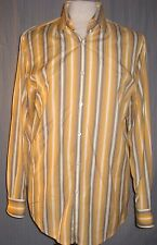 Indigo Palms Tommy Bahama Medium Tan Brown Retro Vintage Striped Shirt (M Shir t