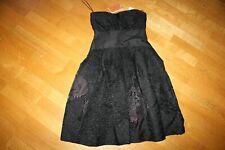 Ladies Carolina Herrera black bustier midi prom dress - Size 10 UK