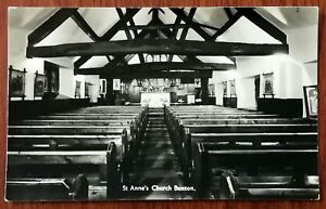 St. Anne'S Church Buxton, Boards Of Buxton Post Card, early 1900's, Unposted